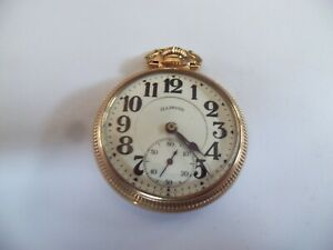 Antique 16 Size Illinois Bunn Special Open Face Pocket Watch
