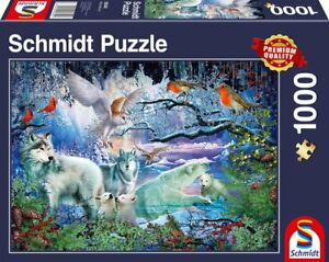 Wolves in a Winter Forest: Schmidt Premium fantasy Jigsaw Puzzle 1000 p'ce 58349