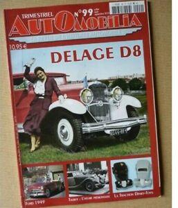 Revue AUTOMOBILIA n°99, 2010. Magazine