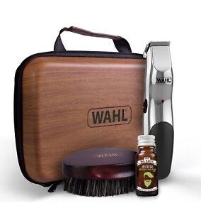 Wahl 9916-802 Beard Care Kit Rechargeable Trimmer Beard Oil Beard Brush Gift Set