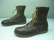 BROWN GEORGIA MADE IN USA LACE UP PACKER FARM FIELD WORK CHORE BOOTS 12 D