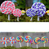 Miniature cute lollipops Ornaments Accessories Fairy Garden landscape Deco GVCA