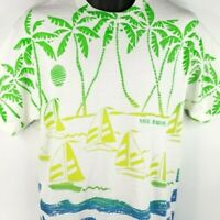 Sailing Nassau Bahamas T Shirt Vintage 90s All Over Print Made In USA Size Large