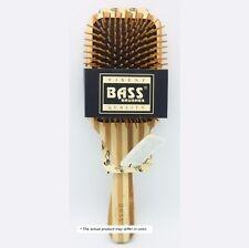Brush - Large Square Paddle Brush Cushion Wood Bristle Wood Handle Bass Brushes