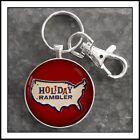 Holiday Rambler Travel Trailer Emblem Photo Keychain Men's Gift