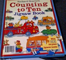 RICHARD SCARRY'S Counting to Ten 10 JIGSAW BOOK Busy Town Huckle 2004