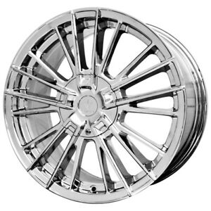 "18 Inch Verde V10 Influx 18X7.5 5x114.3(5x4.5"")/5x108 +40mm Chrome Wheel Rim"