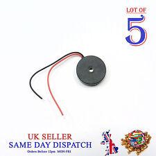 5x 17 mm PASSIVE PIEZO Elettronico Buzzer Allarme Continuo Suono Beeper Arduino