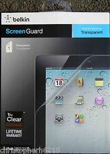 Belkin Tru Clear iPad 4 3 2 Screen Guard Transparent Screen Protector Overlay