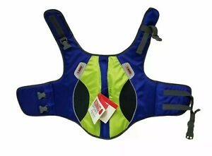 "Kong Sport Aqua Sport Dog Flotation Vest M: 26-31"" 25-55 lbs Blue/Yellow - NEW"