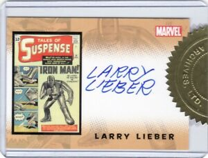 Rittenhouse Iron Man 1st Movie Larry Lieber Case Incentive Auto Card
