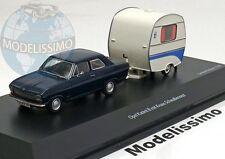 1:43 Schuco Opel Kadett B with camping trailer, Knaus Schwalbennest