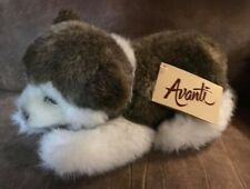 Htf New Avanti Jockline Italy Alaskan Husky Dog Wallace Berrie Plush 1983 Nwt