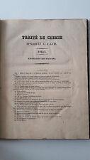 JEAN BAPTISTE DUMAS TRAITE' DE CHIMIE APPLIQUEE AUX ARTS OUDART 1848 SOLE TAVOLE