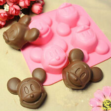 4-Mickey Mouse Cake Mold Cookie Mould Flexible Silicone Soap Mold Chocolate