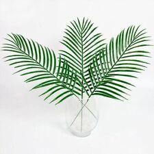 Plastic Palm Artificial Silk Flowers Home Decor Leaf Fake Plant