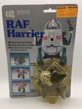 Vintage Airobotics RAF Harrier Jet Plane Tranformer Robot Toy Figure CGL 1980's