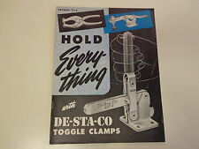 De-Sta-Co Toggle Clamps Machinist Catalog 1953 Fixture Clamping Tools
