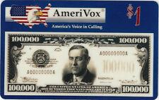 TK Telefonkarte/Phonecard USA Amerivox 100.000 $ Auflage 5000