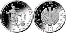 """Deutschland 10 Euro Gedenkmünze 2011 """"Fussball"""" PP (ADFGJ) -Prägestätte wählen"""
