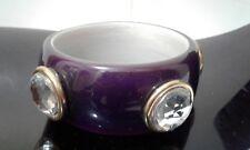 Purple Chunky Jumbo Crystal Statement Bangle Bracelet NEW Chic