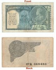 Extreme Rare 1940 J.W.Kelly One Rupee Note British india George V Note G5-51 US