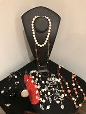 Costume & Real Stones A Lot of Necklaces