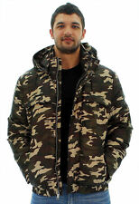 Andrew Marc New York MM3AD994 Men's Brown Camo Puffer Hood Hunter Jacket Coat M