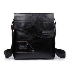 Leather Jeep Men's Cross body Shoulder Letter Casual Messenger Bag Handbag