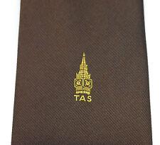 TAS tie Big Ben clock tower Westminster London Vintage 1970s 80s club corporate