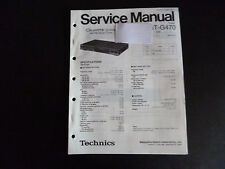 Original Service Manual Technics Tuner ST-G470