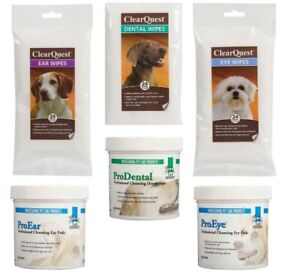 Dog Cat Grooming Health Care Cleansing Wipes and Pads Eye Ear Dental Choose Set