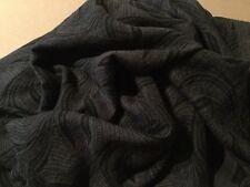 Ladies Long Scarve Unbranded New Dark Grey with Black Design