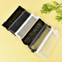 Examen lápiz estuche S/L transparente simple malla cremallera bolsa de papele*ws