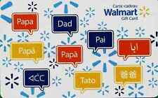 Walmart Canada  Papa Daddy GIFT CARD FROM CANADA BILINGUAL NO VALUE