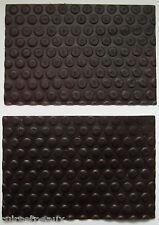 2 MORCEAUX CUIR DE VACHETTE IMPRIME BULLE MARRON CHOCOLAT 15.00x10.00cm 2° CHOIX