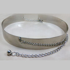 Ladies Metal Mirror Belt Elastic Waist Belt Strap Skinny Dress Waistband Fashion