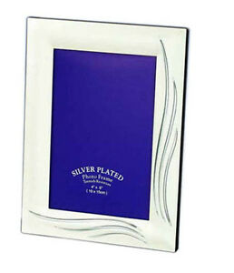"""Two Tone Silver Photo Picture Frame 4x6"""", 5x7"""" & 6x8"""" Inches"""