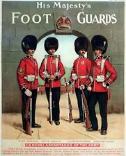 Edwardian British Army Kings Foot Guards Recruitment Poster A3 Print