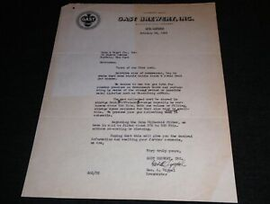 Awesome Contents!!  1938 Gast Brewery, St Louis Missouri Vintage Letterhead