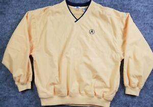 LAL Pullover Jacket Yellow Men's XL Acura Logo Windbreaker Golf Activewear