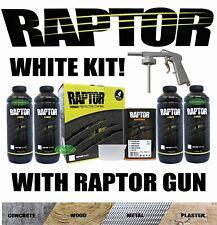 U-POL UP4807 Raptor Kit, White - 1 Gallon