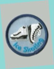 """2"""" Round Ice Skating Boots Patch MINT - GREAT FOR SCOUTS & SKATING PARTIES"""