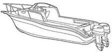 7oz BOAT COVER GRADY WHITE JOURNEY 258 O/B W/O HARD TOP W/ TWIN ENGINES 04-11
