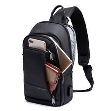 Men's Crossbody Bag USB Charging  Waterproof Shoulder Sling Bag