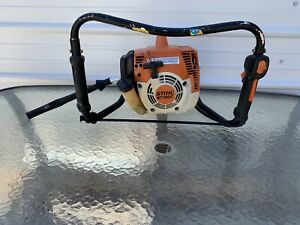 Stihl BT121c Gas Powered Auger / 30CC Earth Drill - STARTS & RUNS GREAT FastShip