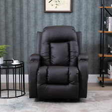 Faux Leather Vibrating Massage Recliner Chair with Remote Brown