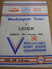 18/01/1981 Rugby League Programme: Workington Town v Leigh (the programme appear