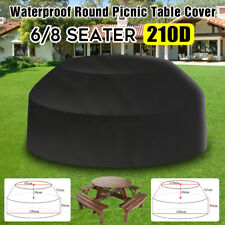 Cover For Large Round Patio Table & Chair Set Ourdoor Furniture Picnic Dustproof