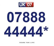 07888 44444* Numbers - Gold Memorable Platinum VIP Numbers, Yours For Life